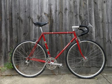 Vintage steel frame road bike at Pedal Cyclery