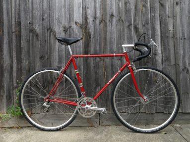 Vintage steel frame road bike at Pedal Cyclery